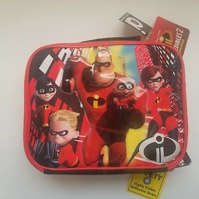 NEW Disney Incredibles 2 Insulated Lunch Box / Bag - New With Tags