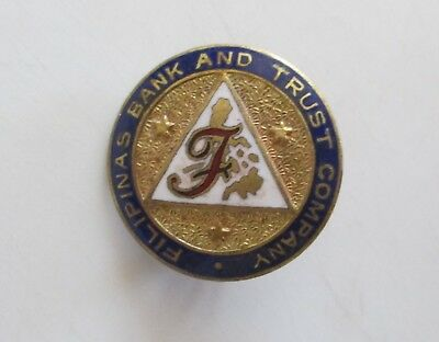 RARE!! FILIPINAS BANK AND TRUST Bank Logo Lapel Pin Phillipines (AP17