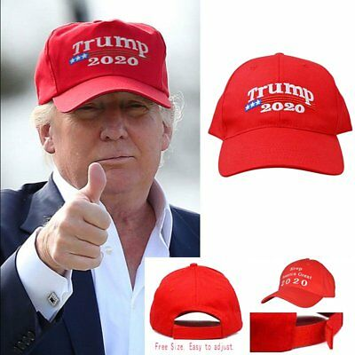 Donald Trump 2020 Keep America Great Again Cap Embroidered Baseball Red Hat  KY