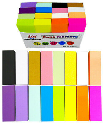 4A Sticky Note Memo Reminder 3'' x 3'' Pastel Assorted 12 Pads Total 1200 Sheets