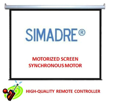 "Simadre Electric Motorized Projection Screen 150"" (16:9)"