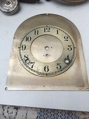 """Antique Seth Thomas Beehive Clock Face And Plate 7.5"""" By 6"""""""