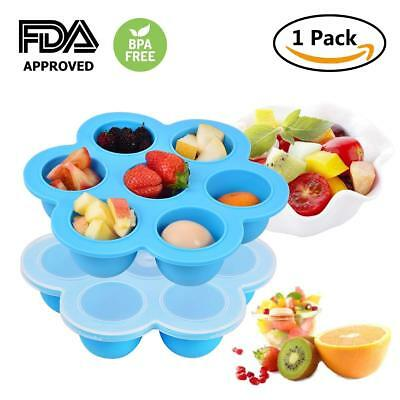 Weaning Baby Food Silicone Freezer Tray Storage Container BPA Free Frugal