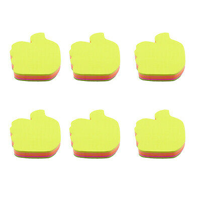 4a cute sticky notes bookmark with leaf shape neon assorted total