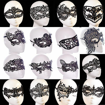 Lady Sexy Black Lace Eye Face Mask Masquerade Party Ball Prom Halloween Costume