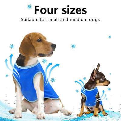 UK Pet Dog Cool Cooling Coat Vest for Hot Days - All Sizes Extra Small To Large