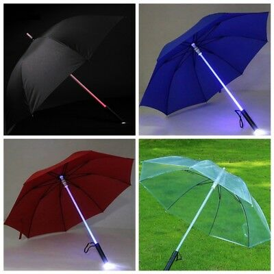 LED Blade Runner Light Saber Star Wars Transparent Flashlight Rain Sun Umbrella