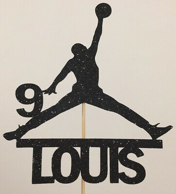 Personalised Jordan Basketball NBA Cake Topper Birthday Add Your Name And Age