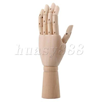 Wooden Jointed Mannequin Right Hand Drawing Moldel Sketching Aid Tool 12""