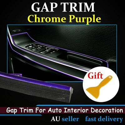 Chrome Purple Gap Trim Car Dash Gape Décoration Moulding Strip Line 6Ms w/Tool