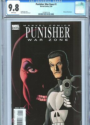 Punisher War Zone #1 CGC 9.8 White Pages Dillon Cover & Art Marvel Comics 2009