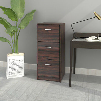 DEVAISE 3-Drawer Wood Filing Cabinet Organizer NightStands Office Furniture