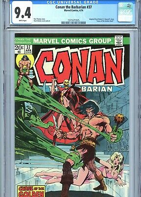 Conan the Barbarian #37 CGC 9.4 White Pages Neal Adams Cover & Art Marvel 1974