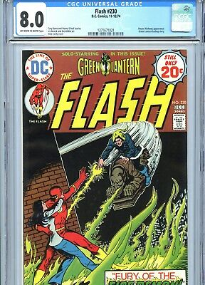 Flash #230 CGC 8.0 OW-White Pages Nick Cardy Cover DC Comics 1974