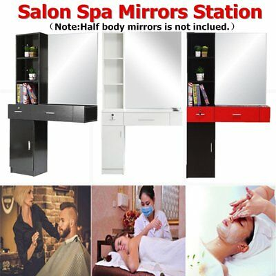 Barber Wall Mount Beauty Salon Spa Mirrors Station Hair Styling Station Desk BT