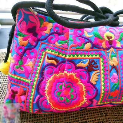 Stylish Boho Sling Crossbody Hmong Purse Thailand Bag Ethnic Embroidered Hippie