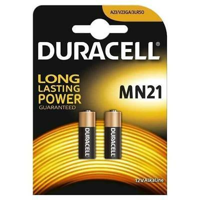 2 x Duracell MN21 A23 12V Security Alkaline Battery 23A LRV08 Expiry 2020