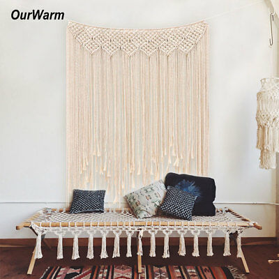 2xBoho Cotton Macrame Tapestry Wedding Photo Backdrop Wall Hanging Curtain Decor