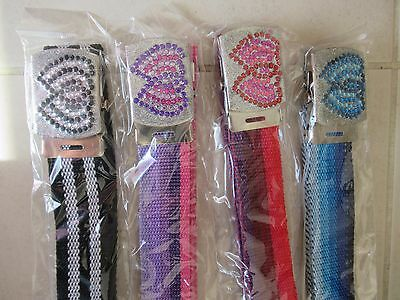 4 x New Girls Jeans Pants Dress Fashion Belts
