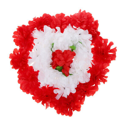 Artificial Silk Chrysanthemum Funeral Grave Tribute Mourning Flower Heart Wreath