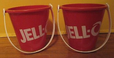 You'll be Red-dy for Fun w/ Pair of Jell-o Buckets! American Plastic Toys