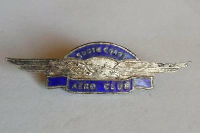 Vintage c1940-50's SOUTH COAST AERO CLUB Enamel BADGE - RARE Australian Aviation