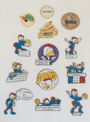 Lot 13 Pin's VOLLEY BALL FFVB French Federation Smashy Olympics Bois d'Arcy