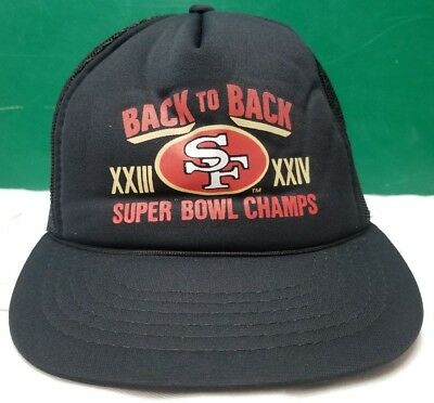 5dde961c San Francisco 49ers Back 2 Back Super Bowl XXIII XXIV Champs trucker cap hat  NFL