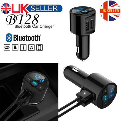 Wireless Bluetooth Car MP3 Player FM Transmitter Handsfree Dual USB Charger Kit