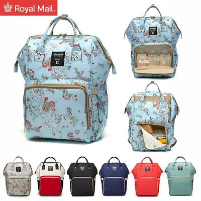Multi-use Large Mummy Backpack Baby Diaper Bags Nappy Changing Travel Bag UK