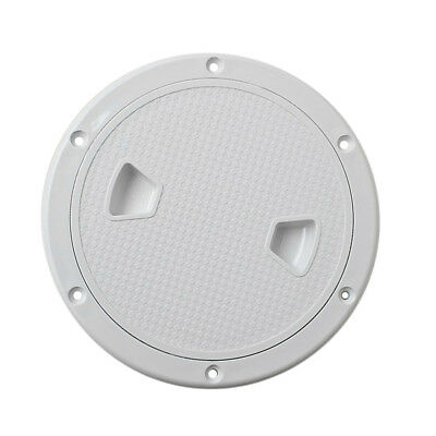 """Marine Boat RV ABS White 6"""" Access Hatch Cover Screw Out Deck Plate"""