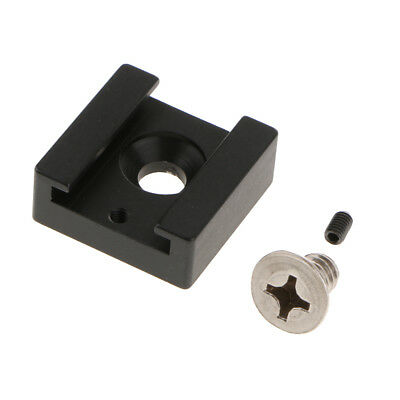Aluminum Alloy Cold Shoe Mount Adapter with 1/4'' Thread for DSLR Rig Cage