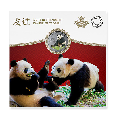 2018 $8 Pure Silver Coin The Peaceful Panda a Gift of Friendship