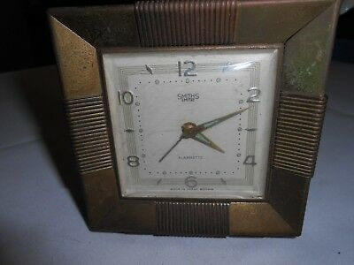 Vintage Smiths Empire Alarmette Made In Gt. Britain Alarm Clock For Repair!