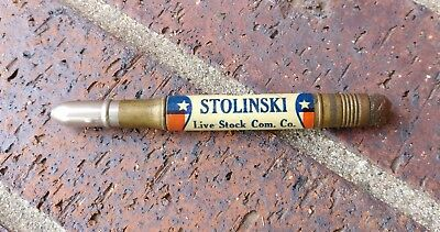 Omaha Ne Stock Yards Brass Bullet Pencil Stolinski Live Stock Commission