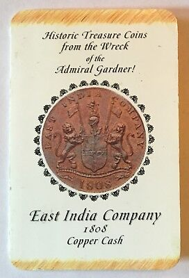 1808 East India Company X Cash Coin From Admiral Gardner Shipwreck With Coa