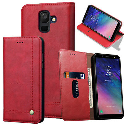 Leather Wallet Case Shockproof Flip Cover for Samsung Galaxy Note 9 J3 J4  A6 A8