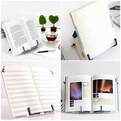 Portable Reading Stand Book Document Recipe Shelf Folding Tablet Rack Organizer