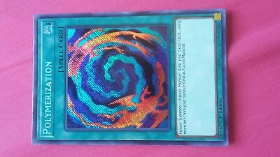 Polymerization Spell Card Yugioh Trading card Game Konami Holo Holographic