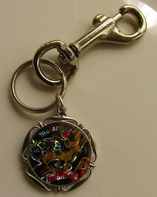 MOTORHEAD BOMBER VINTAGE METAL KEY RING / FOB FROM THE 1980s LEMMY