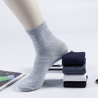 5 Pairs Men's Ankle Socks Winter Thermal Plain Cotton Sport Sock Warm Casual