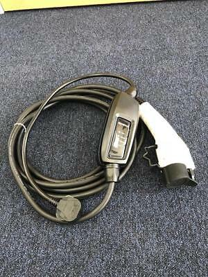 EV Charging Cable, Renault Fluence Mk1, Type 1, UK 3 pin plug 10m