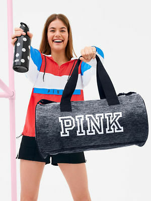 bdbde79a899 NEW Victoria s Secret PINK FRIDAY Duffel 2018 Gym Bag and Water Bottle Set