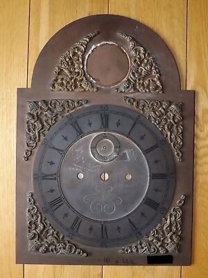Longcase/Grandfather Clock Heavy Brass Arched Dial