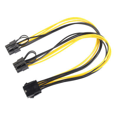 PCIE 8 Pin to Dual 8Pin (6+2) Video Card Y Splitter Adapter Power Cable 30cm