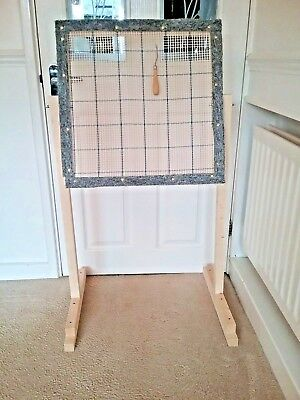 Rug hooking frame / Punch needle frame  and stand KIT