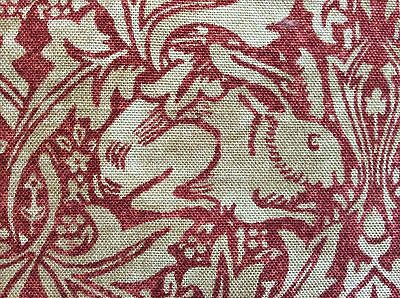 BRER RABBIT Fabric Vol IV COL RED/HEMP Linen/Cotton/Nylon 3 YDS England