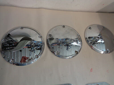 """""""USED 25416-99 or 60769-06 Harley-Davidson BT Chrome Aluminum 5 Hole Derby Cover"""