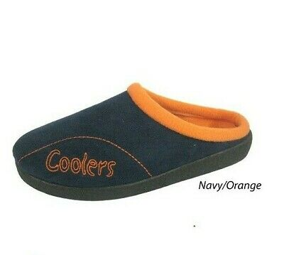 MENS COOLERS SLIPPERS ORANGE MULE STYLE   FREE POST   Brand New  SKI