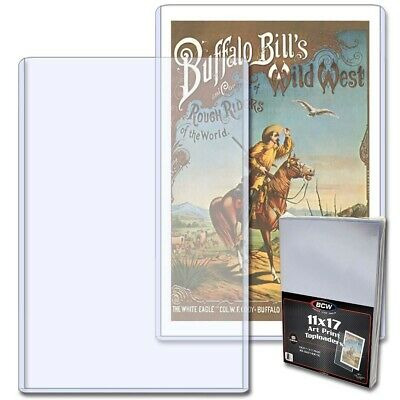 BCW Topload Holders Art Print 11x17 Pack of 10 Rigid Clear Lithograph Protector
